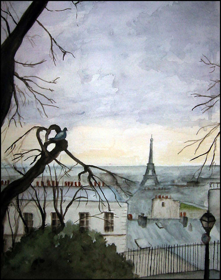 Rainy Day. Paris from Montemarte
