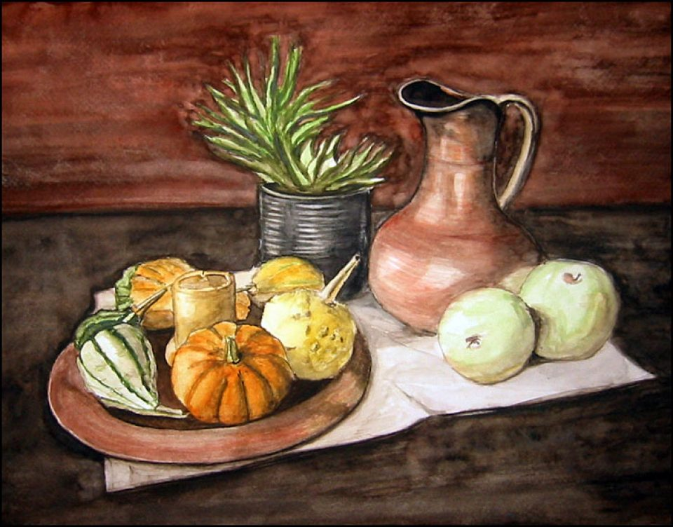 Gourds and the Copper Pitcher
